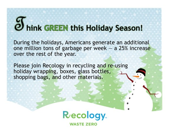 Recology Holiday Recycling